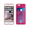 Muvit Life Funda Minigel Rosa Fluor con ranura para tarjetas Pass Pass Apple iPhone 6/6S muvit life