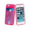 Muvit Life Funda Minigel Rosa Flour con ranura para tarjetas Pass Pass Apple iPhone 5S/SE muvit life
