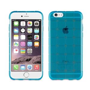 Muvit Life - Funda Tpu cuadros azul con proteccion Sixty Apple iPhone 6/6S muvit life