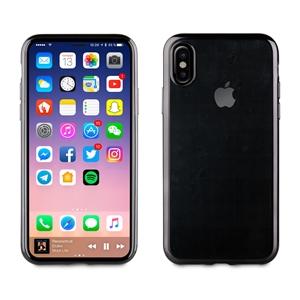 Muvit Life - Funda TPU marco Negro Bling para Apple iPhone 8 muvit Life