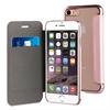 Muvit Life Funda Transparente BLING FOLIO Rose Gold con marco Rose Gold Apple iPhone 7 Plus muvit Life