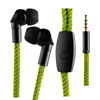 Muvit Life Auriculares estéreo LACE Verde 3.5mm con micrófono muvit life