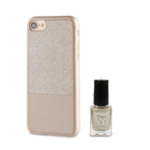 Muvit Life - Funda Ultrafina Dorada ITNAIL + Laca de uñas Dorada Apple iPhone 7 muvit Life