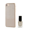 Muvit Life Funda Ultrafina Dorada ITNAIL + Laca de uñas Dorada Apple iPhone 7 muvit Life