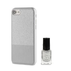 Muvit Life - Funda Ultrafina Plata ITNAIL + Laca de uñas Dorada Apple iPhone 7 muvit Life