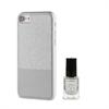 Muvit Life Funda Ultrafina Plata ITNAIL + Laca de uñas Dorada Apple iPhone 7 muvit Life