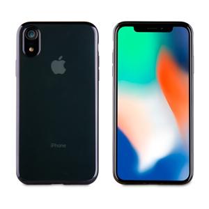 Muvit Life - muvit Life funda Apple iPhone 6,1&quote; Bling transparente marco negro