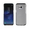 Muvit Pro Funda Crystal Soft Bump Transparente con marco Plata Samsung Galaxy S8 Plus muvit