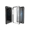 Muvit Pro - Funda Crystal Soft Bump Transparente con material shockproof Negro Huawei P8 Lite 2017 muvit Pro