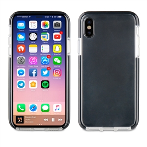 Muvit Pro - Funda Crystal Soft Bump Transparente con material shockproof Negro Apple iPhone 8 muvit Pro