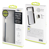 Muvit Pro - Funda Crystal Soft Bump Transparente con Material Shockproof Negro Apple iPhone 7 muvit Pro