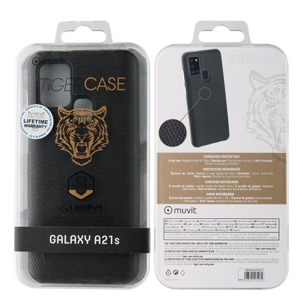 Muvit Tiger - muvit Tiger funda Triangle Samsung Galaxy A21S shockproof 1,2m negra