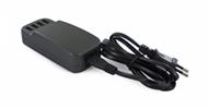 Transformador USB Negro 4 puertos 6.8A con cable extraíble Muvit