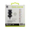 Muvit - Adaptador de viaje universal negro (EU, UK, US, AU) muvit