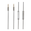 Muvit Cable Audio Cordón Gris 3.5 mm/3.5 mm con micrófono muvit