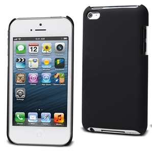 Muvit - Funda Carcasa Trasera Negra Tacto Goma Apple iPhone Low Cost