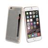 Muvit Carcasa Transparente + Tarjetero Gris Apple iPhone 6 muvit