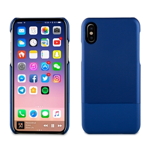 Muvit - Carcasa Doble Skin PU Azul &quote;Edición especial&quote; Apple iPhone 8 muvit