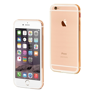 Muvit - Funda Bumper Rose Gold Aluminio+Nanofilm trasero Apple iPhone 7 muvit