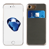 Muvit Carcasa Transparente + Tarjetero Gris vertical Apple iPhone 7/6S/6 muvit