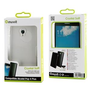 Muvit - Funda Crystal Soft Transparente Alcatel Pop 4 Plus muvit
