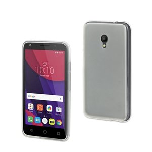 Muvit - Funda Crystal Soft Transparente Mate Alcatel Pixi 4 (5&quote;) 4G muvit