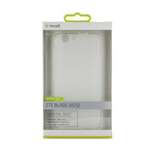 Muvit - Funda Crystal Soft Transparente ZTE A512 muvit