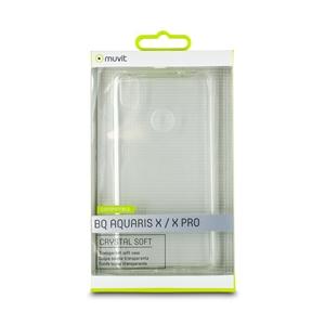 Muvit - Funda Crystal Soft Transparente BQ X / X Pro muvit