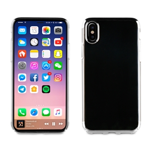 Muvit - Carcasa Crystal Plateada Electroplating &quote;Edición especial&quote; Apple iPhone 8 muvit