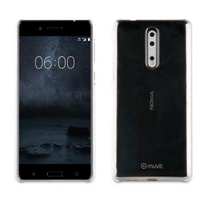 Muvit - Carcasa Crystal Transparente Nokia 8 muvit