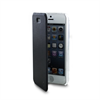 Muvit Funda Folio Negra parte Trasera transparente iPhone 5SE muvit