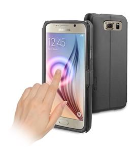 Muvit - Funda Eye Folio Negra con Ventana Completa Samsung Galaxy S6 Muvit