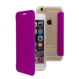 Muvit - Funda Folio Fucsia parte Trasera Transparente Apple iPhone 7/6S/6 muvit