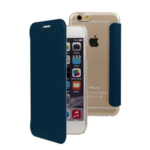 Muvit - Funda Folio Azul parte Trasera Transparente Apple iPhone 7/6S/6 muvit