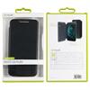 Muvit - Funda Folio Negra parte Trasera Transparente Motorola Moto G4 Play muvit