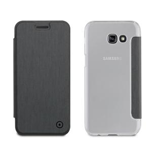 Muvit - Funda Folio Gris  parte Traser Transparente Samsung Galaxy A5 2017 muvit