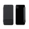 Muvit Funda Folio Negra Doble PU parte trasera transparente Apple iPhone 8 muvit