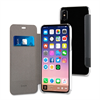 Muvit - Funda Folio Negra Doble PU parte trasera transparente Apple iPhone 8 muvit