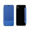 Muvit Funda Folio Azul Doble PU parte trasera transparente Apple iPhone 8 muvit