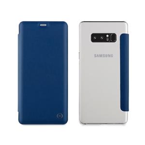 Muvit - Funda Folio Azul parte trasera TPU Transparente Samsung Galaxy Note 8 muvit