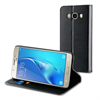 Muvit Funda Folio Stand Negra Funcion Soporte y Tarjetero Samsung J5 2016 muvit