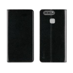 Muvit - Funda Folio Stand Negra Funcion Soporte y Tarjetero Huawei P9 muvit