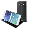Muvit Funda Folio Stand Negra Función Soporte y Tarjetero Samsung J7 2016 muvit