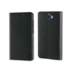 Muvit - Funda Folio Stand Negra Funcion Soporte y Tarjetero Huawei Y5 II muvit
