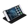 Muvit - Funda Folio Stand Negra Funcion Soporte y Tarjetero Huawei P8 Lite 2017 muvit