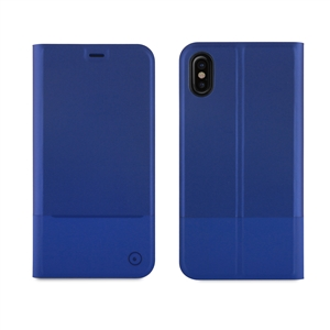 Muvit - Funda Folio Stand Skin Azul Función Soporte con Doble PU &quote;Edición especial&quote; Apple iPhone 8 muvit