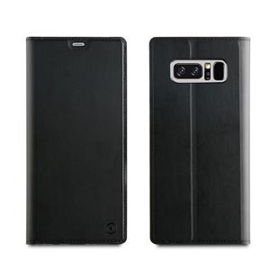 Muvit - Funda Folio Stand Función Soporte con TPU y cierre magnético Negra Samsung Galaxy Note 8 muvit