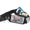 Muvit Cinturón Elástico Doble Negro Impermeable con Ventana Touch Screen, salida de auriculares muvit