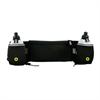 Muvit Cinturón Elástico Negro Portabotellas con bolsillo y salida de auriculares muvit
