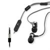 Auriculares Estéreo Cordón Negro/Blanco metálicos 3,5mm con micro y botón compatibilidad Muvit